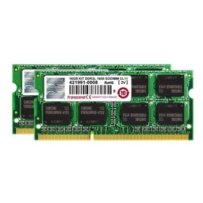 SODIMM DDR3L 16GB KIT 1600MHz TRANSCEND 2Rx8 CL11