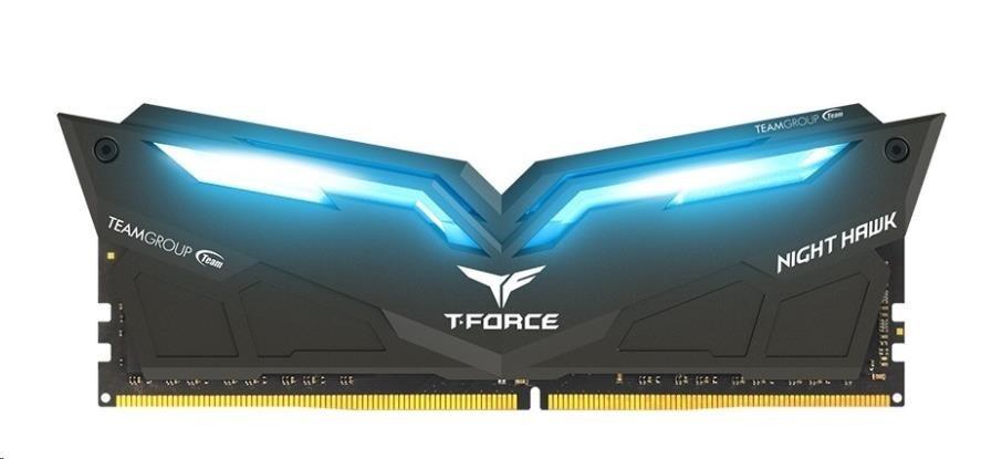 DIMM DDR4 16GB 2666MHz, CL15, (KIT 2x8GB), TEAM T-FORCE Night Hawk LED (Blue)