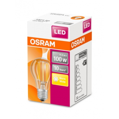 OSRAM LED STAR CL A Filament 11W 827 E27 1521lm 2700K (CRI 80) 10000h A++ (Krabička 1ks)