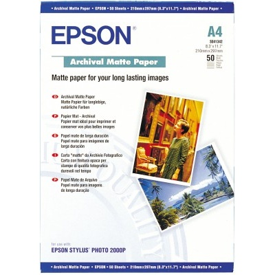 EPSON Paper A4 Archival Matte 50 sheets