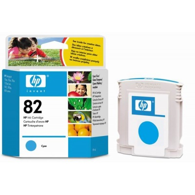 HP 82 Cyan DJ Ink Cart, 69 ml, C4911A