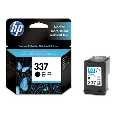 HP 337 Black Ink Cart, 11 ml, C9364EE
