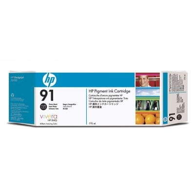 HP 91 Black photografic DJ Ink Cart, 775 ml, 3-pack, C9481A