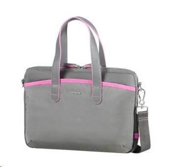 "Samsonite Nefti BAILHANDLE 13.3"" - Rock Grey/Fuchsia"
