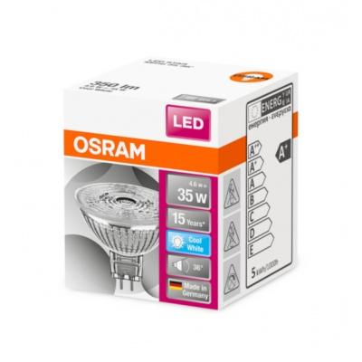OSRAM LED STAR MR16 36° 4,6W 12V 840 GU5.3 350lm 4000K (CRI 80) 15000h A+ (Krabička 1ks)