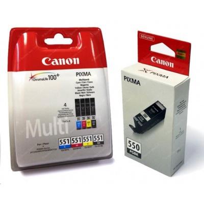 Canon BJ CARTRIDGE PGI-550/CLI-551 PGBK/C/M/Y/BK/GY Multi Pack
