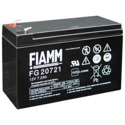 Baterie - Fiamm FG20721 (12V/7,2Ah - Faston 187), životnost 5let