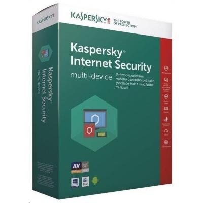 Kaspersky Internet Security 2019 CZ multi-device, 5 zařízení, 2 roky, obnovení licence, elektronicky