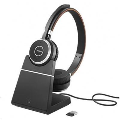 Jabra bezdrátová náhlavní souprava Evolve 65 UC, stereo, MS, Link 360 včetně nabíjecího stojánku