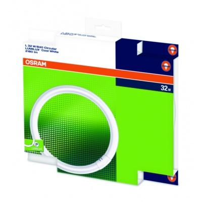 OSRAM zářivka LUMILUX® T9 C kruhová na pin  230V 32W 840 G10q noDIM A Sklo matné 2250lm 4000K 9000h (krabička 1ks)