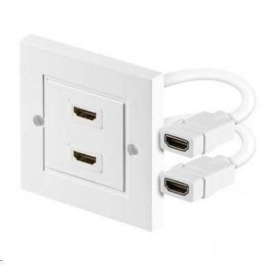 PREMIUMCORD Zásuvka HDMI zásuvka v panelu 2x HDMI A - HDMI A Female/Female