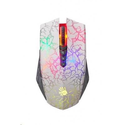 A4tech BLOODY A60 Blazing herní myš, až 4000DPI, V-Track  technologie, 160KB paměť, USB, CORE 2, bílá