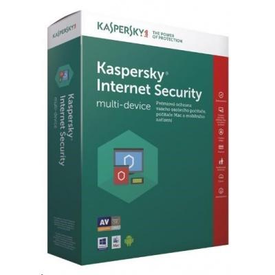Kaspersky Internet Security 2019 CZ multi-device, 1 zařízení, 2 roky, obnovení licence, elektronicky