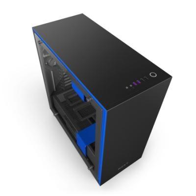 NZXT skříň H700i / ATX / MidTower / 2x USB 3.0 / 2x USB 2.0 / RGB LED / černo/modrá