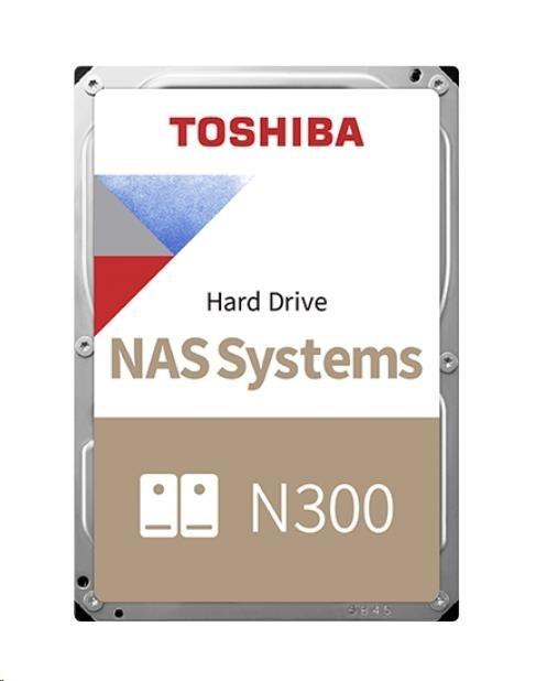 "TOSHIBA HDD N300 NAS 10TB, SATA III, 7200 rpm, 256MB cache, 3,5"""