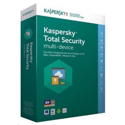 Kaspersky Total Security 2019 CZ multi-device, 2 zařízení, 1 rok, obnovení licence, elektronicky
