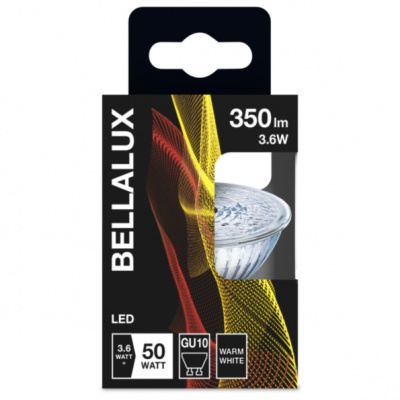 Bellalux PAR16 36° 4,3W 827 GU10 350lm 2700K (CRI 80) 15000h A++ (Krabička 1ks)