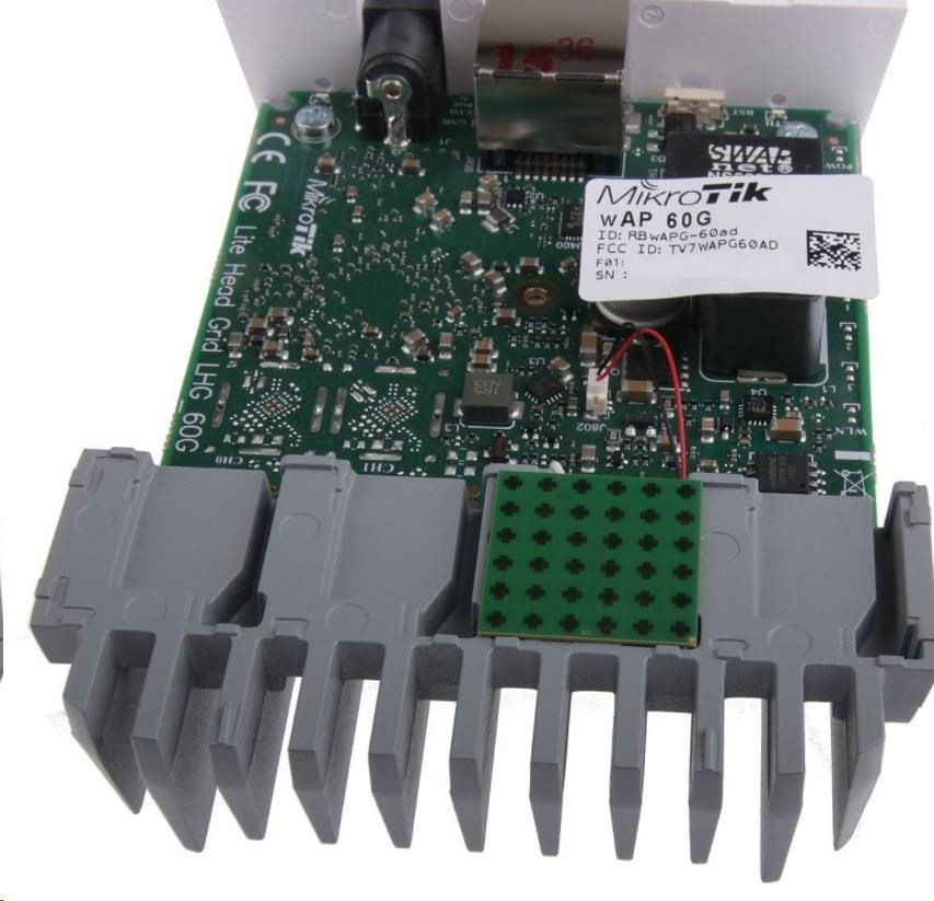 MikroTik wAP 60G CPE (RBwAPG-60ad), 1Gbps full-duplex bez kabelů, 802 11ad,  60GHz, CPE, vč L3