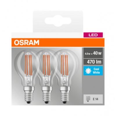 OSRAM LED BASE CL P Filament 4,5W 840 E14 470lm 4000K (CRI 80) 10000h A++ (Krabička 3ks)