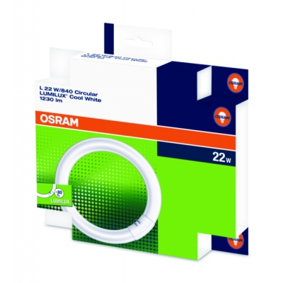 OSRAM zářivka LUMILUX® T9 C kruhová na pin  230V 22W 840 G10q noDIM B Sklo matné 1350lm 4000K 9000h (krabička 1ks)
