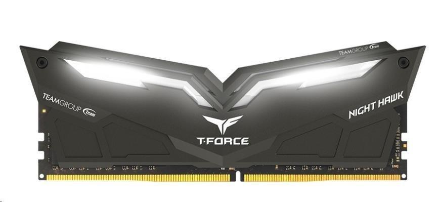 DIMM DDR4 32GB 2800MHz, CL16, (KIT 2x16GB), TEAM T-FORCE Night Hawk LED (White)