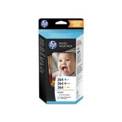 HP 364 Series Photosmart Photo Value Pack 50 sheets 10x15 cm