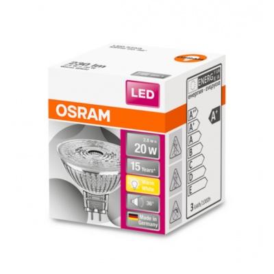 OSRAM LED STAR MR16 36° 2,9W 12V 827 GU5.3 230lm 2700K (CRI 80) 15000h A+ (Krabička 1ks)