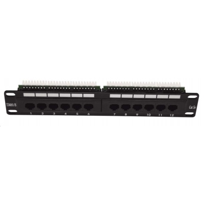 "10"" Patch panel osazený 12port, UTP, Cat 5e"